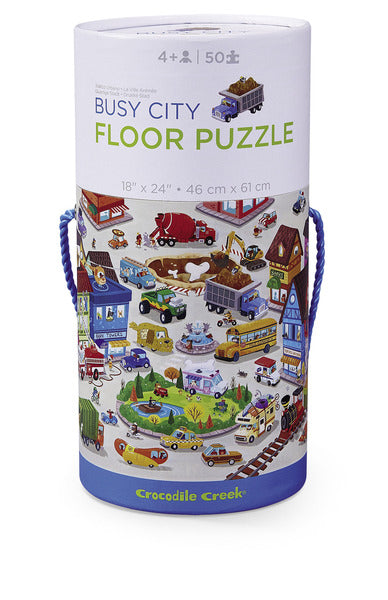 Busy City Canister Floor Puzzle