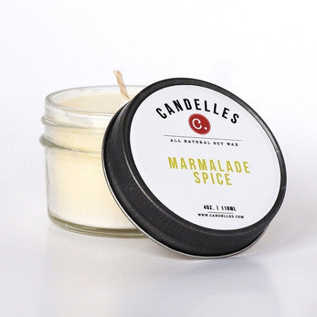 Candelles 4 oz All Natural Soy Wax Candle Marmalade Spice - Lil Tulips