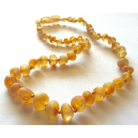 Inspired by Finn Harvest Raw Amber Teething Necklace - Lil Tulips