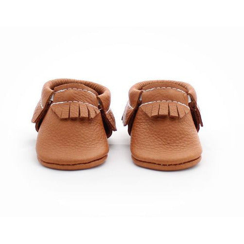 The Coral Pear Classic Moccasins Classic Brown - Lil Tulips