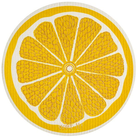 Lemon Round Swedish Cloth