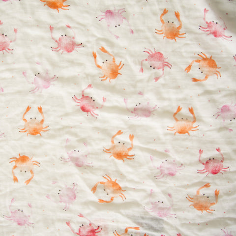Crabby Crabs Luxe Muslin Swaddle