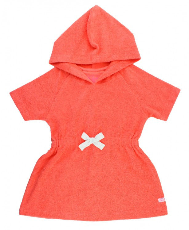 RuffleButts Coral Terry Cover-Up
