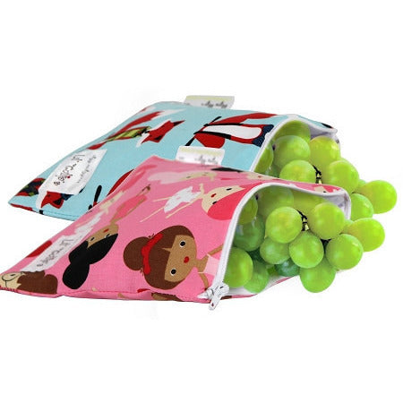 FINAL SALE Itzy Ritzy EXCLUSIVE Snack Happened Reusable Snack Bags - Lil Tulips - 1