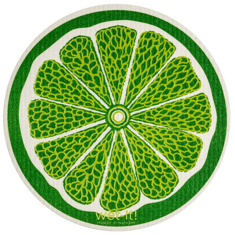 Lime Round Swedish Cloth
