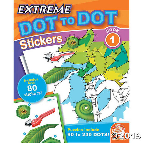 Extreme Dot to Dot Stickers Book 1