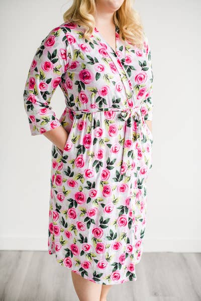 Roses Women's Bamboo Viscose Robe