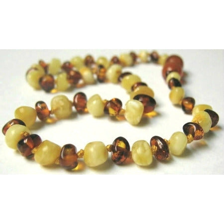 Inspired by Finn Butter & Honey Polished Amber Teething Necklace - Lil Tulips