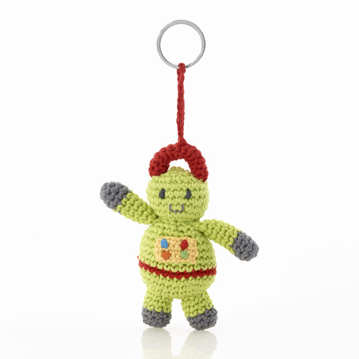 Pebble Robot Wire Keyring - Lil Tulips