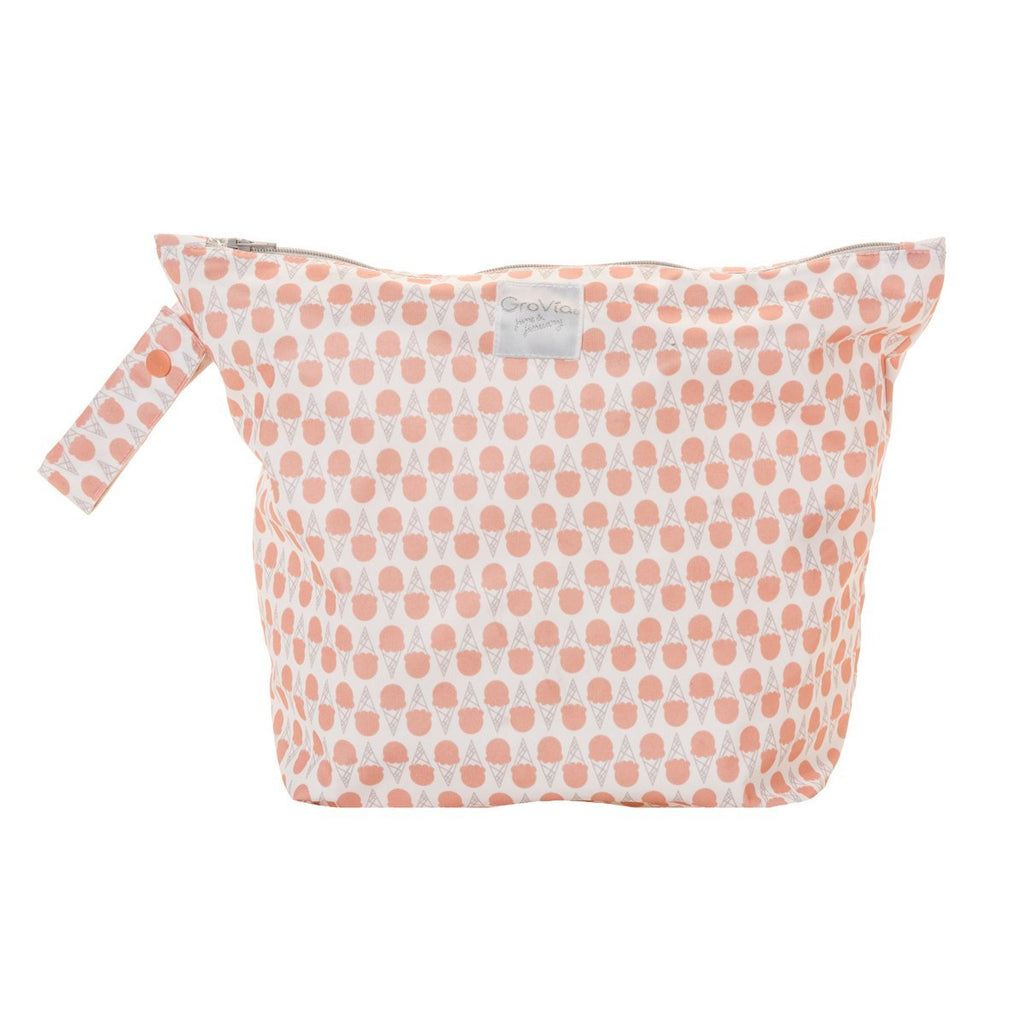 Grapefruit Ice Cream Zippered Wet Bag