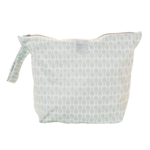 Soft Mint Ice Cream Zippered Wet Bag