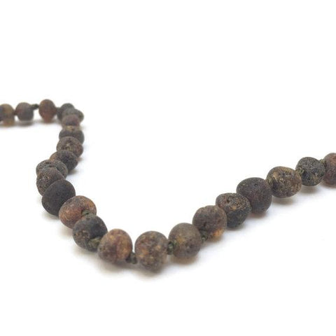 Organic Green Raw Baltic Amber Necklace