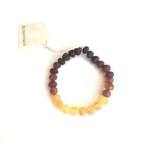 Raw Baltic Amber || Anklet • Bracelet Ombre
