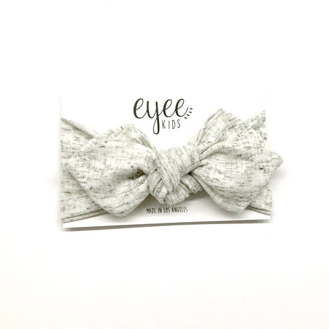 Top Knot Headband - Cookies N Creme (Ribbed Knit)