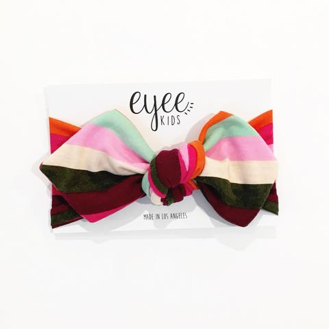Top Knot Headband - Rainbow Stripe