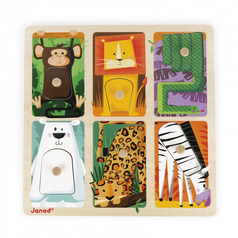 "Tactile Puzzle ""Zoo Animals"""