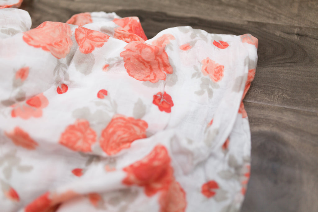Just Peachy Bamboo Rayon Muslin Swaddle