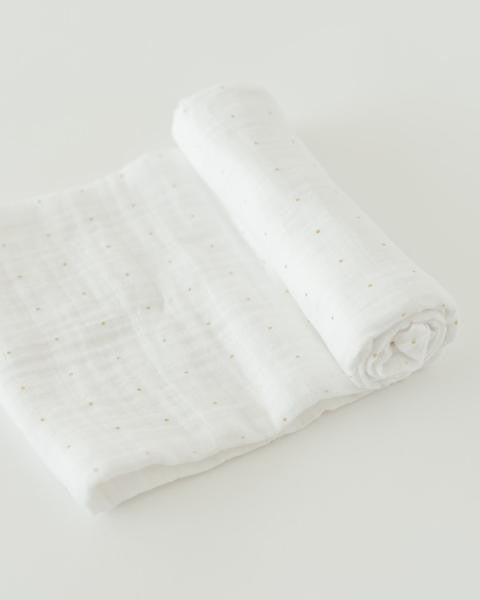 Gold Dot  Cotton Swaddle