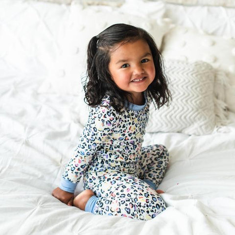 Leopard Love Two-Piece Toddler/Kids Bamboo Pajama Set