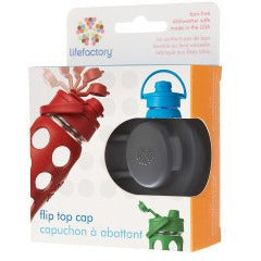 LifeFactory Flip Top Cap Carbon - Lil Tulips