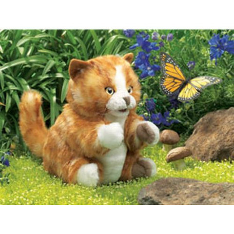 Folkmanis Orange Tabby Kitten Puppet - Lil Tulips