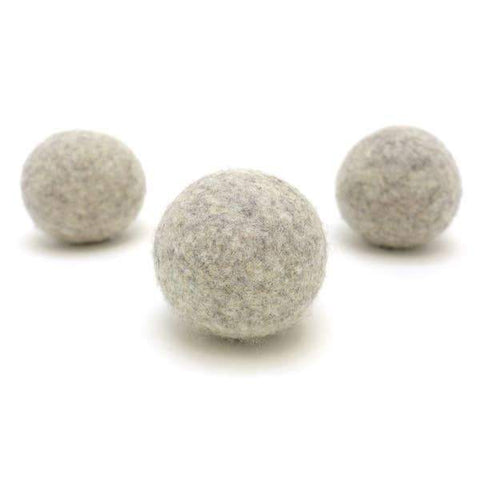 Light Gray Single Wool Dryer Ball
