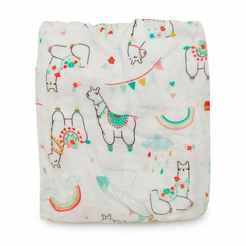 LUXE FITTED CRIB SHEET - LLAMA