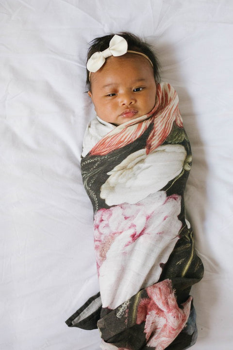 LUXE MUSLIN SWADDLE - TUSCAN FLORAL