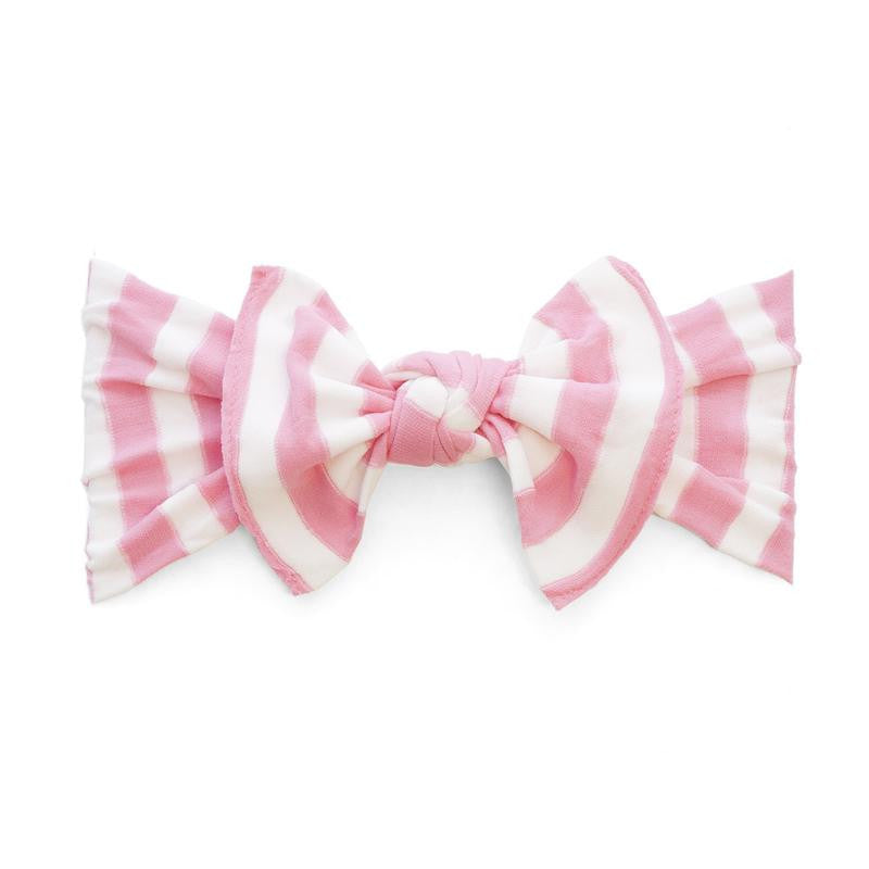 Patterned Knot Pink Stripe