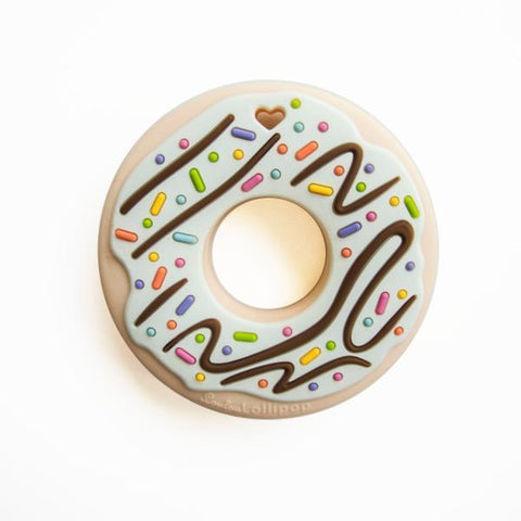 MINT DONUT SILICONE TEETHER - SINGLE