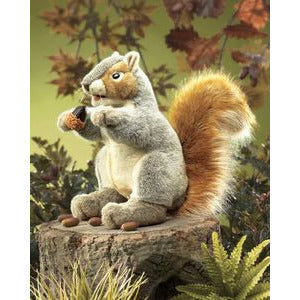 Folkmanis Gray Squirrel Puppet - Lil Tulips