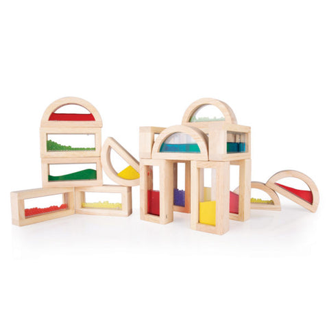 Sensory Rainbow Blocks - 18 pc set
