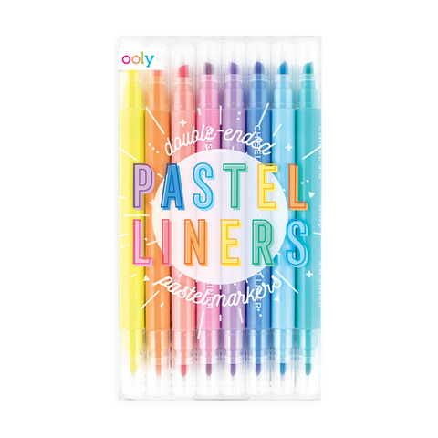 Pastel Liners Dual Tip Markers