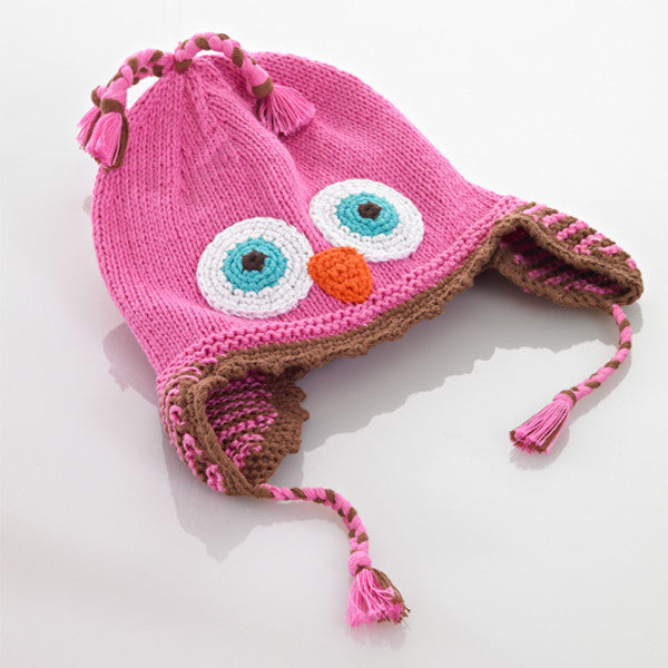 Pebble Pink Owl Hat - Lil Tulips