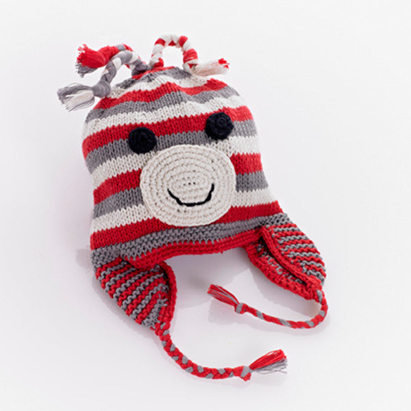 Pebble Red Monkey Hat - Lil Tulips