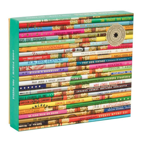 Phat Dog Vintage Pencils 1000 Piece Foil Puzzle