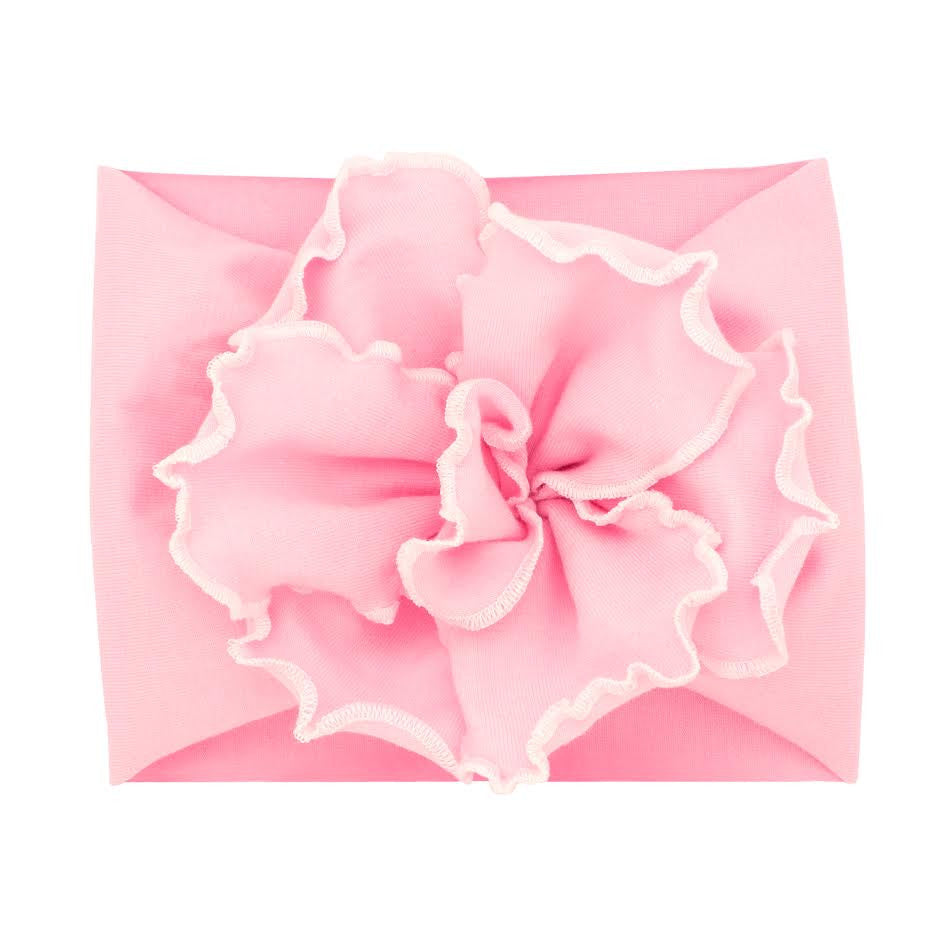 Large Petal Flower Cotton Baby Band Pink