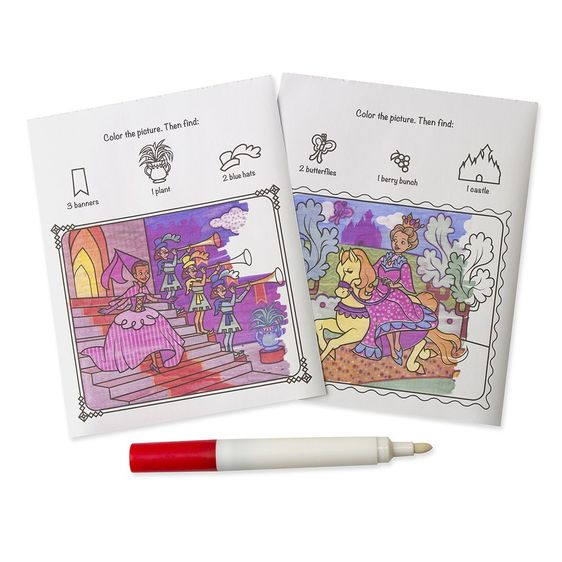 ColorBlast No-Mess Coloring Pad - Princess - Lil Tulips