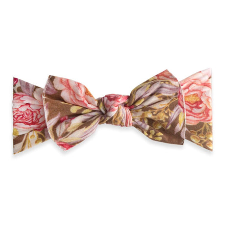Printed Knot Gold Leaf Peony