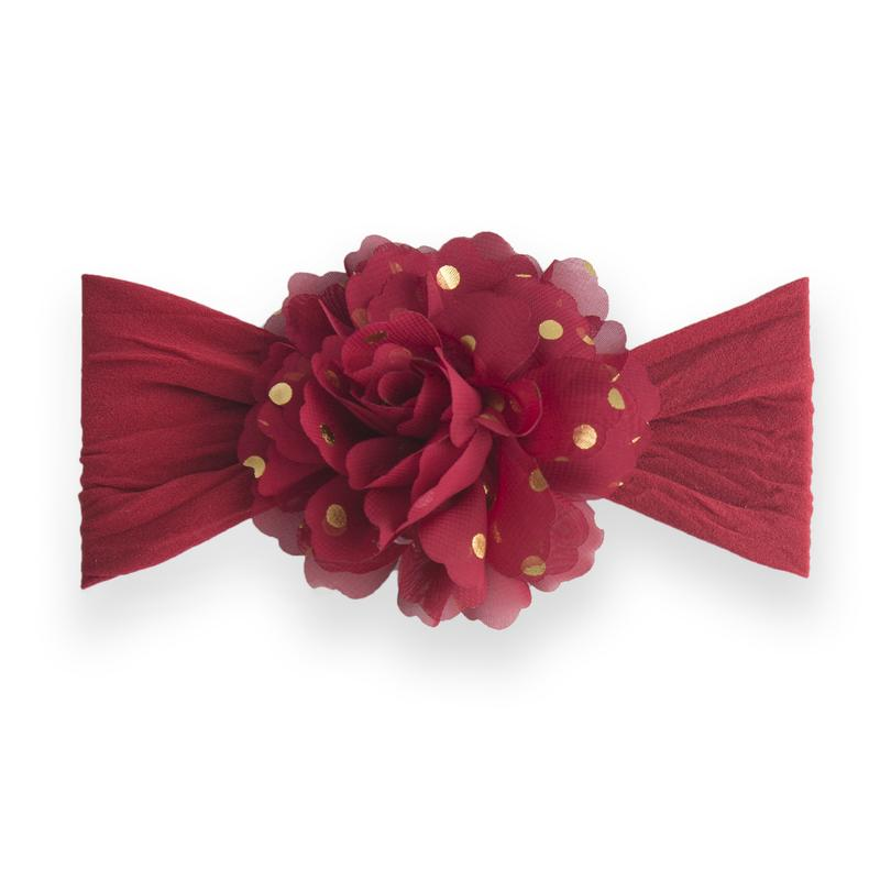 Gold Dot Flower - Red