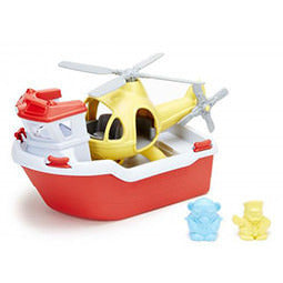Green Toys Rescue Boat and Helicopter - Lil Tulips