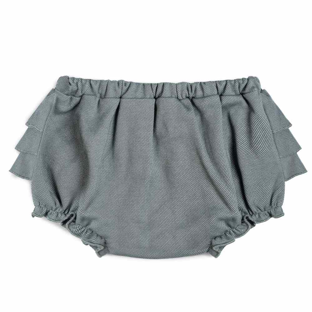 Milkbarn Kids RUFFLE Bloomer Denim