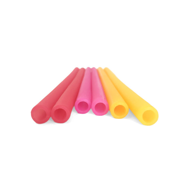 Reusable Silicone Straws - The Ombre Straw Set - Red
