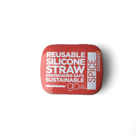 SILICONE STRAW WITH TRAVEL CASE - SPICE