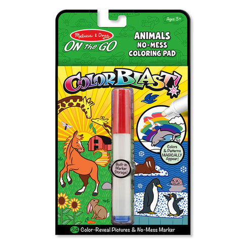 ColorBlast No-Mess Coloring Pad - Animals