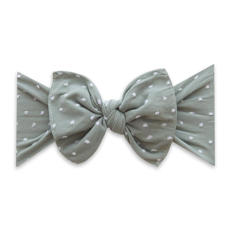 Patterned Shabby Knot Sage Dot