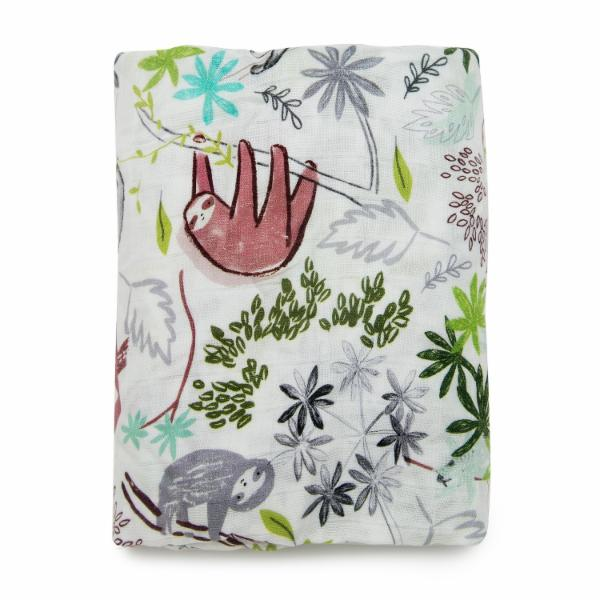 LUXE FITTED CRIB SHEET - SLOTH