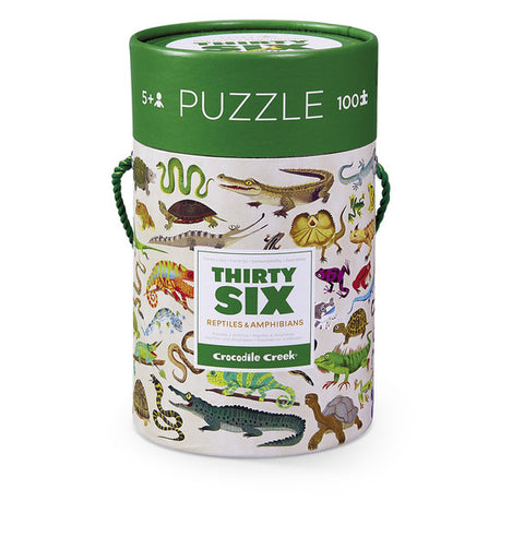 Reptiles & Amphibians 36 Animals 100 pc Puzzle