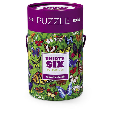 Butterflies Thirty-Six Animals Puzzle 100-pc