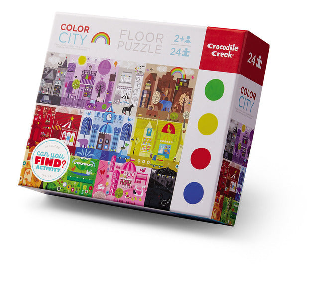 Early Learning Color City Puzzle 24-pc